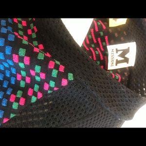 Winter dress.. black & multi colorful stripes..